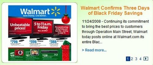 Wal-Mart Black Friday Blurb on Website Cropped