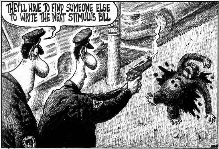 NYP Chimp Cartoon